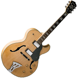 Washburn J3NK Jazz Series Hollow Body Electric Guitar in Natural