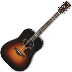 Ibanez AW4000-BS Artwood Series 6 String Acoustic Guitar in Brown Sunburst High Gloss