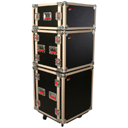 Gator G-TOUR SHK8 CAST 8 Space ATA Shock Wood Flight Rack Case with Casters