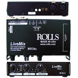 Rolls MX34C Two Channel Microphone Mixer