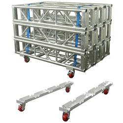 "Show Solutions SPTD12X3 Pro Truss Cart for three 12""X12"" Truss side by side"