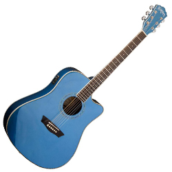washburn wcd18cembl comfort series 6 string acoustic electric guitar in blue acclaim sound and. Black Bedroom Furniture Sets. Home Design Ideas