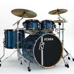 Tama SK52HXZB5SISP Superstar Hyperdrive Drum Shell Kit in Indigo Sparkle Finish