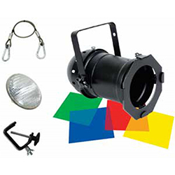 American DJ 56-BLACK-COMBO Par Can Lighting Kit in Black with Accessories