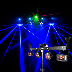 Chauvet GIG BAR IRC Control Bar with 4 Derby Style, Par, Laser, and Strobe Effects Lighting