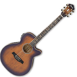 ibanez aeg40iioab 6 string aeg body acoustic electric guitar in open pore antique brown sunburst. Black Bedroom Furniture Sets. Home Design Ideas