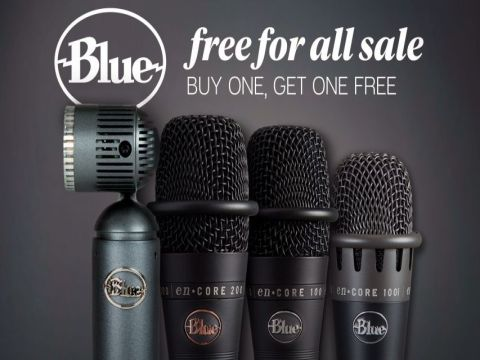 Buy a specially marked Blue Microphone, receive a free one at no cost! (limit 8 microphones per order)