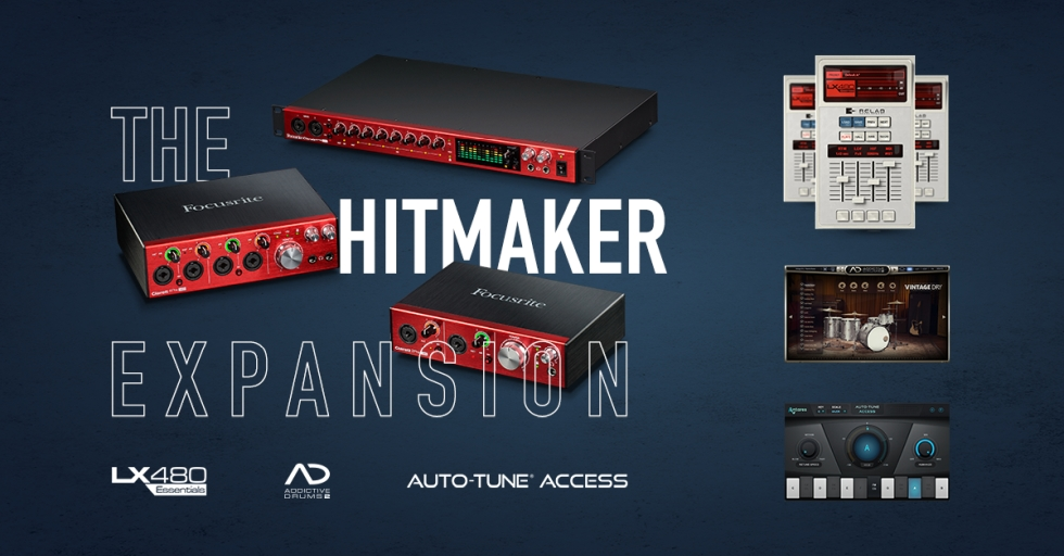 Get the HitMaker expansion pack FREE with a Clarett USB and Clarett Octo Pre