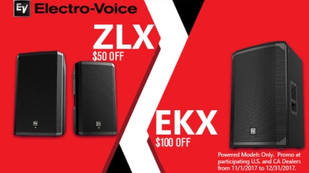 Save On Electro Voice EKX and ZLX Powered Loudspeakers until Dec 31st!