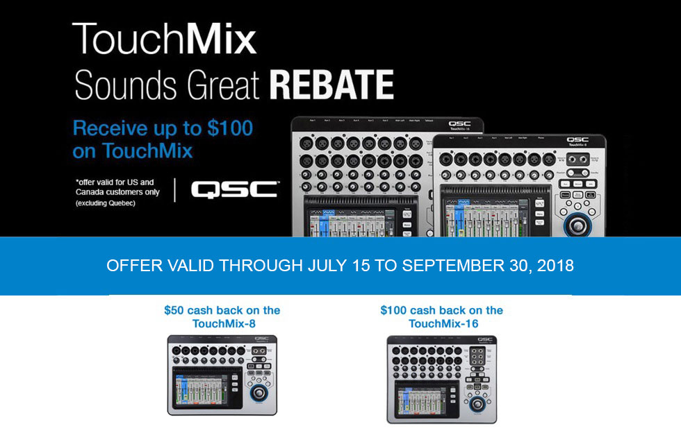 QSC TouchMix rebates are BACK!