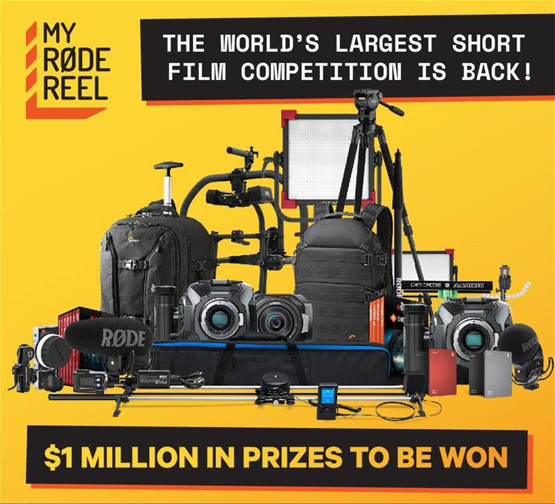 RODE Reel 2018 short film contest! Up to $1,000,000 in prizes!