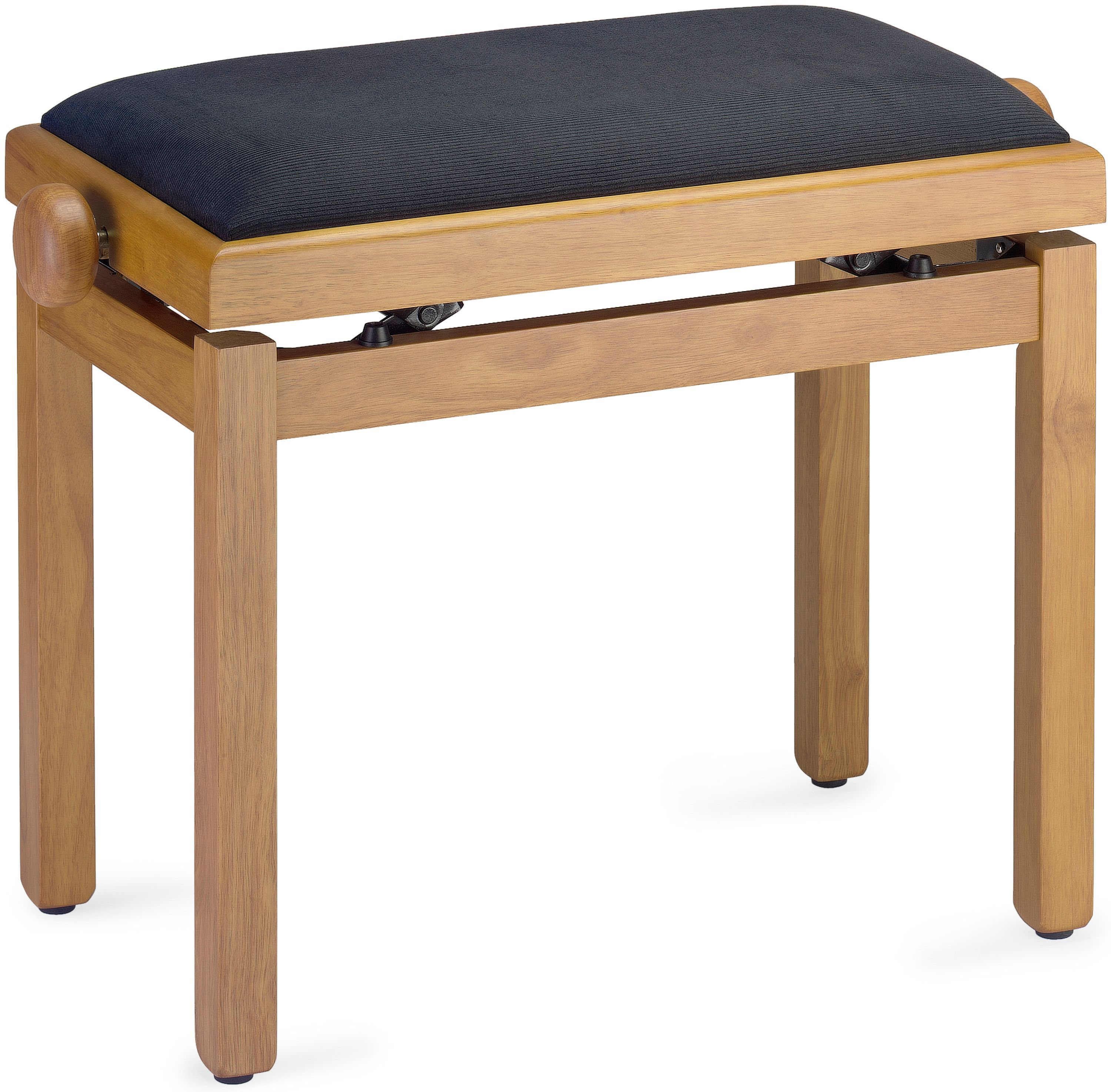 Black Velvet Stagg PB55 High-Gloss Adjustable Flip-Top Piano Bench with Sheet Music Storage