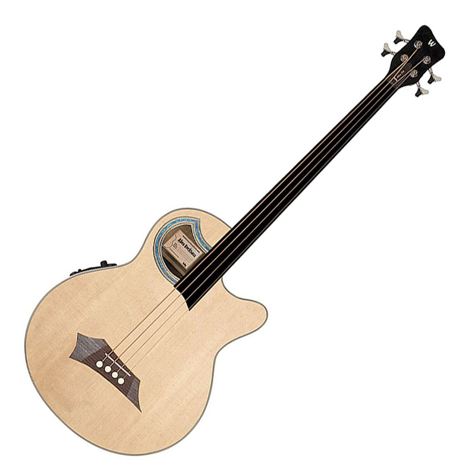 d58e2c8b88 Warwick C574B101CR Alien Deluxe 4 string Fretless Acoustic Bass ...