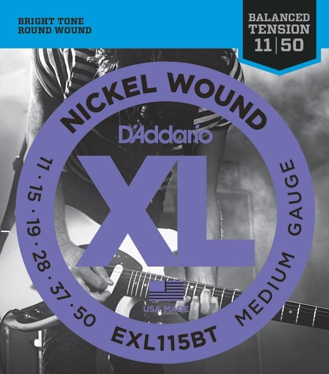 D'Addario EXL115BT Balanced Tension Medium XL Nickel Wound Electric Guitar  Strings Gauge 11-50 exl-115-bt - Canada's Favourite Music Store - Acclaim  Sound and Lighting