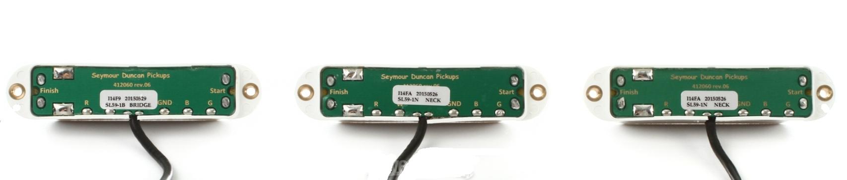 Seymour Duncan 11208-22-W Little 59 Strat Pickup Set in White ...