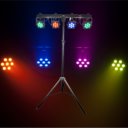 Chauvet 4BAR TRI USB Complete Wireless Wash Lighting Solution with RGB LEDs and Lighting Stand