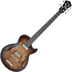 Ibanez AGBV205A-TCL Artcore Series Hollow Body 5 String Bass Guitar in Tobacco Burst Low Gloss Finish (Discontinued Clearance)