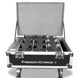 Chauvet DJ FLIGHT-FREEDOMCHARGE9 Durable Rolling Road Case for up to 9 Par Lights