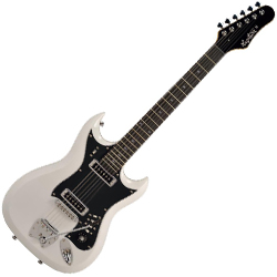 Hagstrom HII-WHT HII Series 6 String Electric Guitar in White Gloss