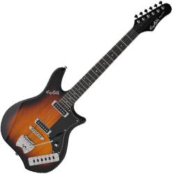 Hagstrom IMP-TSB Impala Series 6 String Electric Guitar in Tobacco Sunburst
