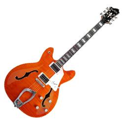 Hagstrom SUVIK-MDE Super Viking Series 6 String Hollowbody Electric Guitar in Mandarin