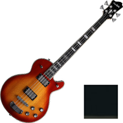 Hagstrom SWEB-BLK 4 String Swede Bass in Black Gloss