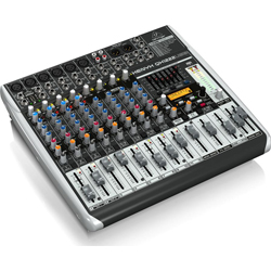 Behringer QX1222USB XENYX Series Premium 16-Input 2/2-Bus Mixer with XENYX Mic Preamps