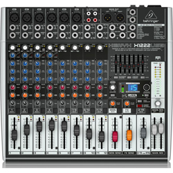 Behringer X1222USB Xenyx Series Premium 16-Input 2/2-Bus Mixer with XENYX Mic Preamps