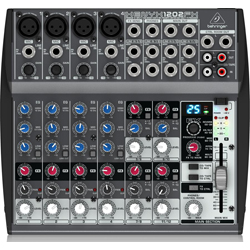 Behringer 1202FX Xenyx Series Premium 12-Input 2-Bus Mixer with British EQs and Multi-FX Processor