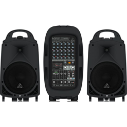 Behringer PPA2000BT Europort Series Ultra-Compact 2000W 8-Channel Portable PA All In One System with Bluetooth
