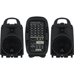Behringer PPA500BT Europort Series Ultra-Compact 500W 6-Channel Portable PA All In One System with Bluetooth