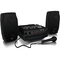 Behringer PPA200 Europort Series Ultra-Compact 200W 5-Channel Portable PA All In One System