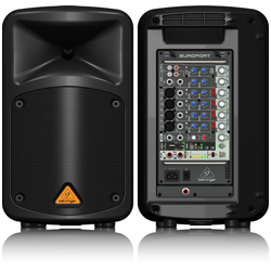 Behringer EPS500MP3 Europort Series Ultra-Compact 500W 8-Channel Portable PA All In One System with MP3 Player