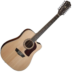 Washburn HD10SCE12 Heritage 10 Series 12 String Acoustic Electric Guitar in Natural