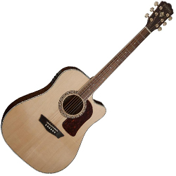 Washburn HD30SCE-O Heritage 30 Series 6 String Acoustic Electric Guitar in Natural