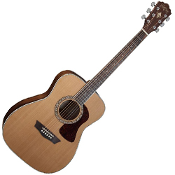 Washburn HF11S Heritage 10 Series 6 String Folk-Style Acoustic Guitar in Natural