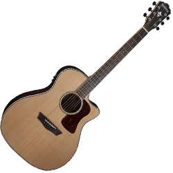 Washburn HG26SCE-O Heritage 20 Series 6 String Grand Auditorium Acoustic Electric Guitar in Natural