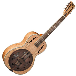 Washburn R360SMK Vintage Series Parlor Resonator Guitar in Spalted Maple (discontinued clearance)