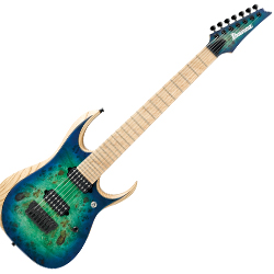 Ibanez RGDIX7MPB-SBB RGD Iron Label Series 7 String Electric Guitar in Surreal Blue Burst Finish
