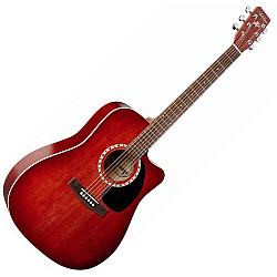 Art & Lutherie 023707 CW Spruce Burgundy 6 String Acoustic Electric guitar (discontinued clearance)