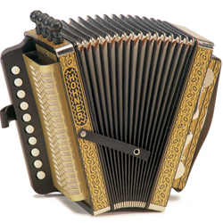 Hohner 114D 20 Note Wiener Modell Vienna Accordion In Key Of D
