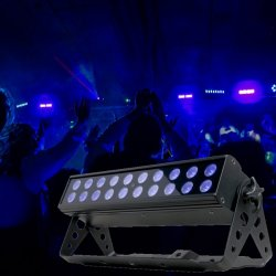 American DJ UV-LED-BAR20 DMX UV Light Bar with 20x1w UV LED