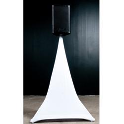 American Audio EVENT-STAND-SCRIM-1W 5 Ft Single sided white speaker stand scrim