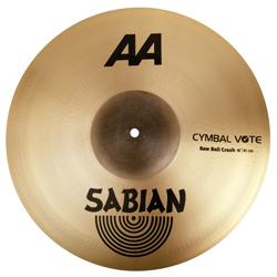 Sabian 2160772 16 inch AA Raw Bell Crash Cymbal