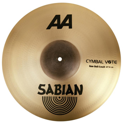 Sabian 2180772 18 inch AA Raw Bell Crash Cymbal