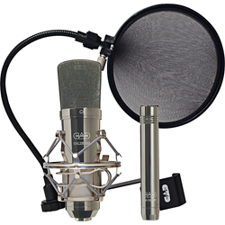CAD Audio GXL2200BPSP Studio Pack with two microphones one set of headphones and a pop filter