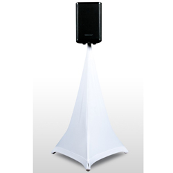 American Audio EVENT-STAND-SCRIM-3W 5 Ft Three sided white speaker stand scrim