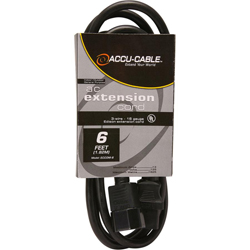 American DJ ECCOM-6 6 ft 16/3 gauge IEC male to female power cable