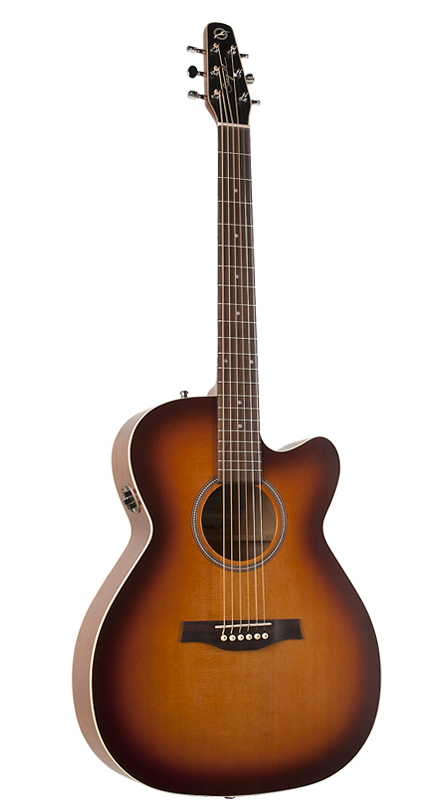 Seagull 040414 Entourage Rustic Concert Hall CW QIT Acoustic Electric  6 String Guitar