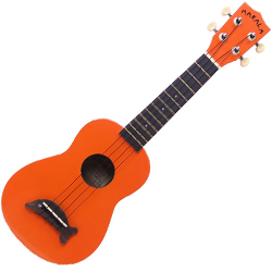 Kala MK-SD/OR Makala Dolphin Soprano Ukulele in Orange Gloss